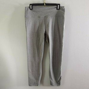 Fabletics Powerhold Cropped Gray Leggings Compress